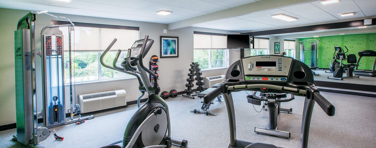 fitness center at La Quinta Inn & Suites Sturbridge
